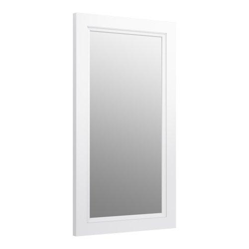 KOHLER K-99665-1WA Damask 36.75-Inch x 21.75-Inch Rectangular Framed Mirror,  Linen White - Hardwood Frames Rectangular Mirror