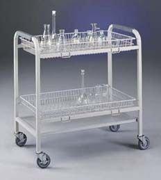 Labconco 8045000 Steel 4-Basket Glassware Cart, 34.88