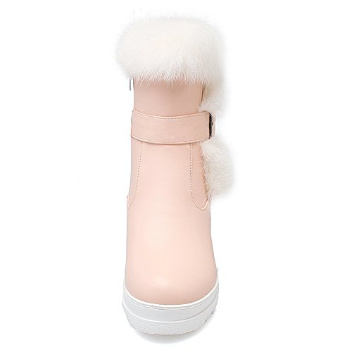 COOLCEPT Botas con Cremallera para Mujer Pink