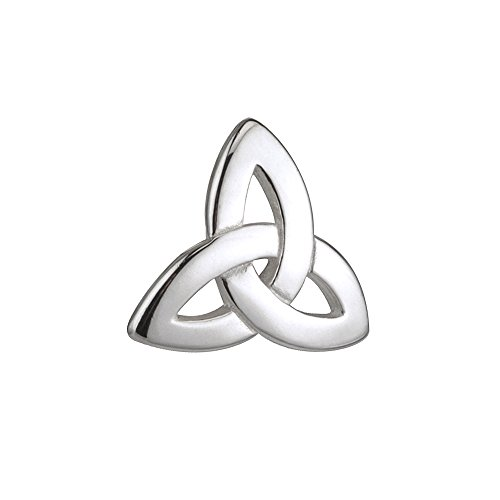 Biddy Murphy Sterling Silver Tie Clip Trinity Knot Made in Ireland ()