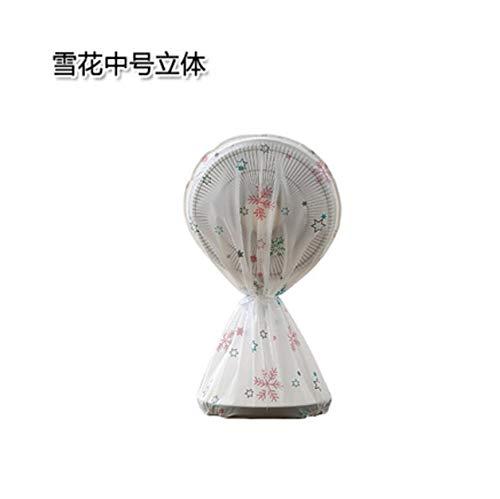 Sweetstore Household Mount Fan - Supreme Series,Semi-Transparent Printed Circular Floor Fan Cover (Snowflake, Medium)