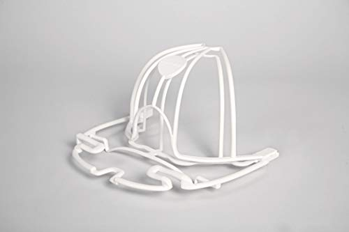 Perfect Curve Cap Washer (White) - hat Washer - Baseball hat Cleaner - Baseball Cap Cleaning hat Rack - New Patented Design for Flat or Curved caps - for Kids caps or Visors - Made in USA.