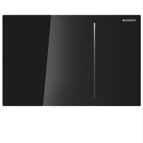 Geberit 115.620.SJ.1 Sigma70 Flush Plate, Black Glass by Geberit