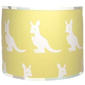 Pam Grace Creations Honeydew Kangaroo Lamp Shade Lampshade, Yellow