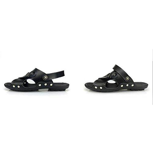 Scarpe Casual in da alla Scarpe Spiaggia Sandali Traspiranti Pelle Uomo Scarpe estive da Black Pantofole Moda 8AcwTqv4