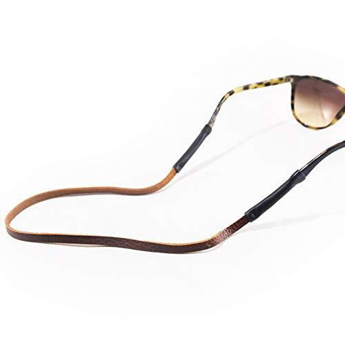 138 Eyeglasses - Brown Leather Slim Eye Wear Retainer/Sunglass Strap/Eye Wear Strap