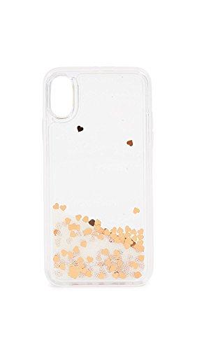 (Rebecca Minkoff Confetti Hearts Glitterfall iPhone X Case, Mini Pearls/Confetti Hearts, iPhone X)