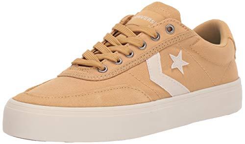Converse Men's Unisex Courtlandt Canvas Low Top Sneaker, Club Gold/White/Natural Ivory 10 M US