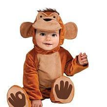 Infant Toddler Mischievous Monkey Costume 6-12 Mo