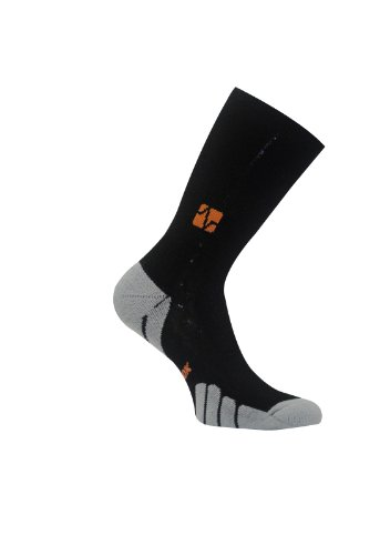 Vitalsox Tennis, Gym Sports Italian Classic Odor Resistant Silver Drystat Compression Crew Socks, Black, Large VT0810T ()