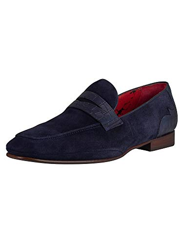 West Loafers Velour Jeffery Blu Men Rwd0qWxZH