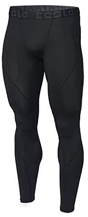 Tesla Men's Compression Pants Baselayer Cool Dry Sports Tights Leggings MUP19-KLB