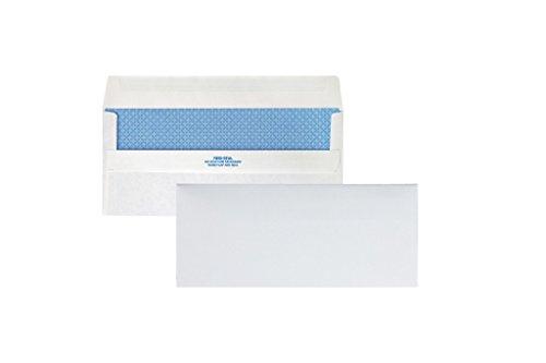 Quality Park Redi-Seal Security Tint Envelopes, #10, White, 500/Box - White Case Envelope