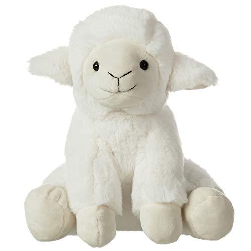 CharaHome Plush Lamb Sitting Lovely Creamy White Stuffed