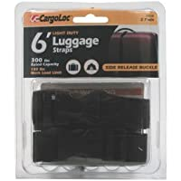 CargoLoc 84048 Lashing and Luggage Straps with Side Release Buckle, 1-Inch x 6-Inch by CargoLoc