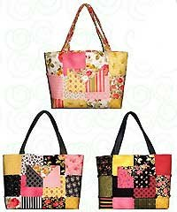 Quilts Illustrated Pattern: Charm Party Tote