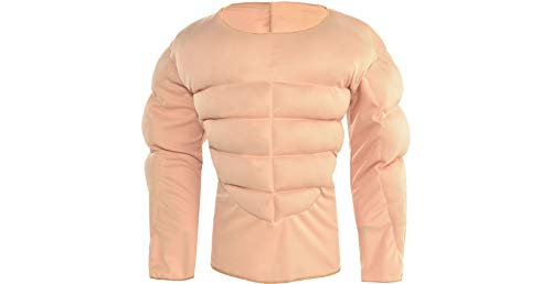 Amscan Muscle Padding Shirt Halloween Costume Accessory for Kids, Large/Extra Large ()