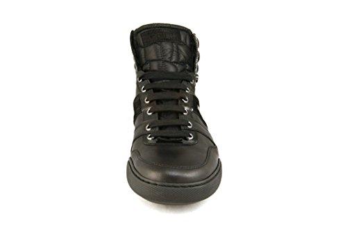 Roberto Cavalli Men's 1352 High Top Leather Sneaker 45 Black