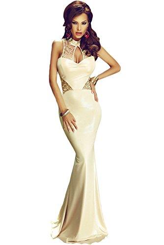 NEW Élégant or dentelle robe de cocktail de soirée Party Dance Club Wear Taille M 10–12