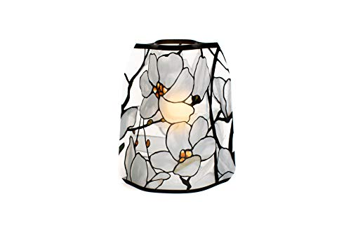 MODGY Luminary Lanterns 4-Pack - Floating LED Candles with Batteries Included - Luminaries are Great for Weddings, Parties, Patios & Celebrations of All Kinds (Louis C. Tiffany Magnolia ()