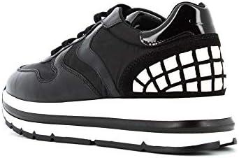 VOILE BLANCHE Plateforme de Baskets Femme 0012014312.02.1A06 Maran Studs Taille 36 Blanc/Noir