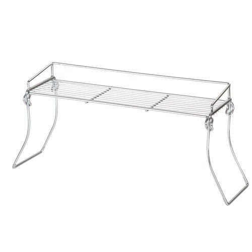 Amazoncom Mainstays Over The Sink Shelf Chrome By Mainstays
