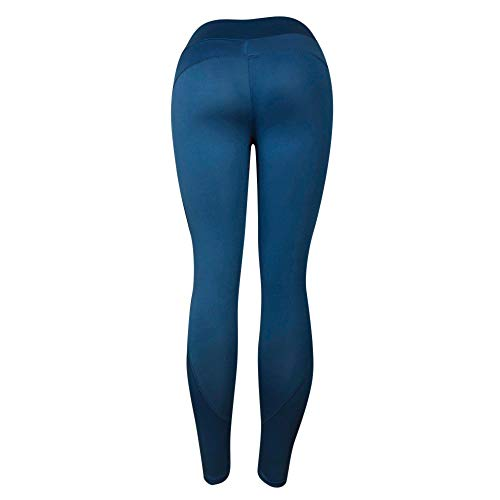 Limsea Women Yoga Pants, Tummy Control Workout Running 4 Way Stretch Yoga Leggings Capris Power Flex Boot-Cut Running Pants Leggings High Waist Out Pocket Yoga Pants Non See-Through Gym Tights Blue