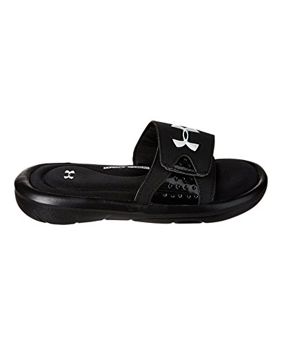 Under Armour Kids Boy's UA Ignite IV SL (Little Kid/Big Kid) Black/White Sandal 6 Big Kid M (Slide Sandals Boys compare prices)