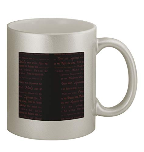 Red Wine #104 - Funny Humor 11oz Silver Coffee Mug Cup ()