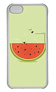 Customized iphone 5C PC Transparent Case - Cool Summer Cover
