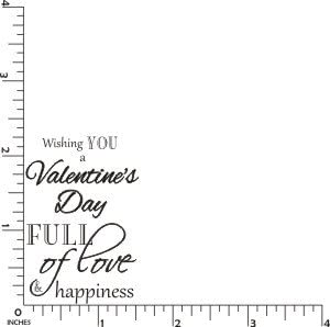 Valentines Full of Love Greeting Cling Rubber Stamp by DRS Designs Rubber Stamps