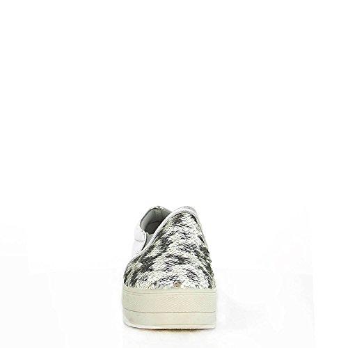 Ideal Shoes, Damen Slipper & Mokassins Silber