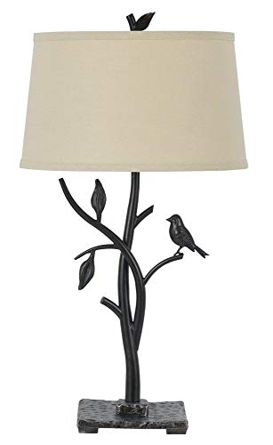 Bird Table Lamp - Cal Lighting BO-2301TB 150-watt 3-Way Medora Iron Table Lamp