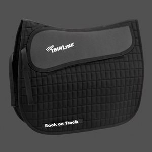 - BACK ON TRACK HORSE THERAPEUTIC CONTENDER II ALL PURPOSE FIRM SADDLE PAD BLACK