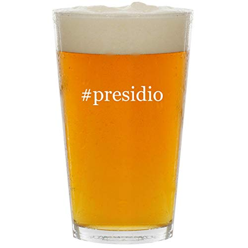 (#presidio - Glass Hashtag 16oz Beer Pint)