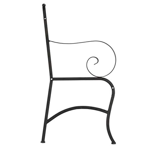 Outdoor Double Seat, Foldable Metal Antique Garden Bench, Folding Outdoor Patio Chair, Decorative Outdoor Garden Seating, Park Yard Bench with Decorative Cast Iron Backrest by CargoTi (Image #7)