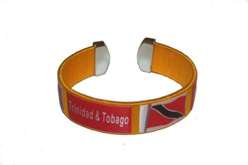 Trinidad & Tobago Yellow Country Flag THICK C' Bracelet Wristband.. (Trinidad Wristband)
