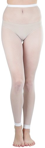 White Lycra Fishnet - 7