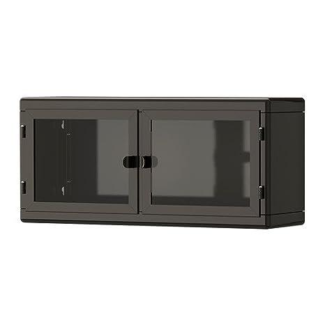 Ikea RASKOG - Armario de Pared, Gris Oscuro, Cristal, 60 x 27 cm: Amazon.es: Hogar