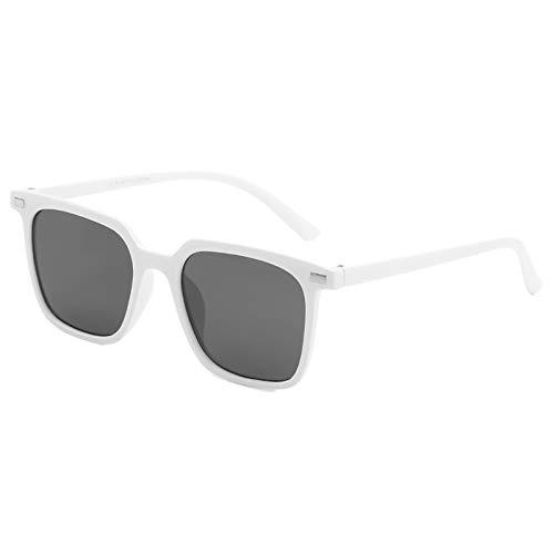 Gnzoe Sunglasses Retro Classic Trendy Stylish Sunglasses for Men Women Square White ()