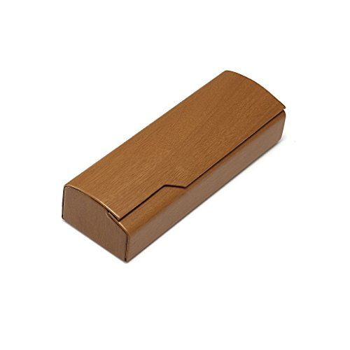 Café Shell Motif Box Portable pliables Republe Léger Case Lunettes Box de Bois Protector Retro soleil Lunettes 6UB1Bq