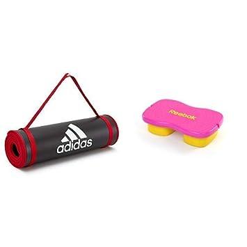 dce417434e18ec adidas(アディダス)トレーニング用マット ブラック + Reebok(リーボック) イージートーンステップ