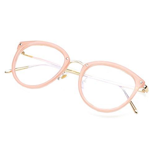 8077db738c529 Amomoma Womens Fashion Clear Lens Round Frame Eye Glasses - Import It All