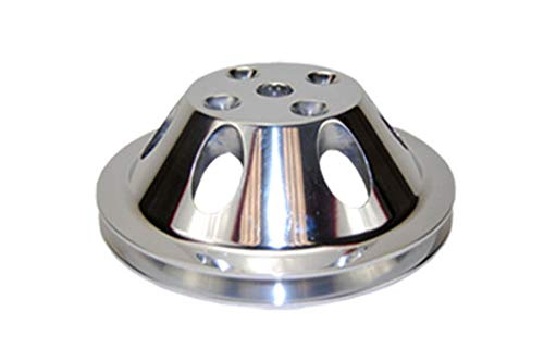 - Pirate Mfg SBC Chevy 283-350 Machined Aluminum LWP Single Groove Water Pump Pulley