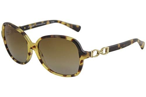 Coach Womens L096 Cole Sunglasses (HC8123) Tortoise/Brown Acetate - Polarized - 56mm (2015 Spectacle Frames)
