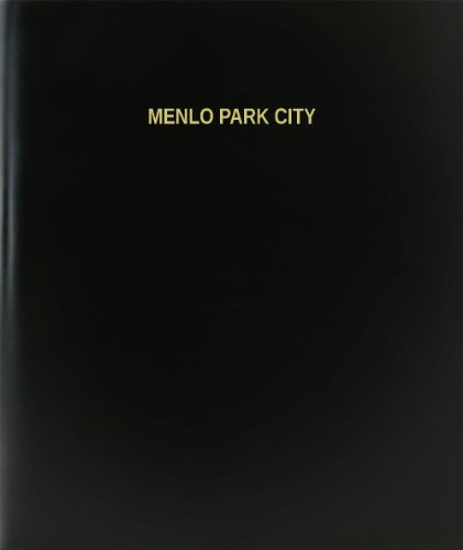 "BookFactory® Menlo Park City Log Book / Journal / Logbook - 120 Page, 8.5""x11"", Black Hardbound (XLog-120-7CS-A-L-Black(Menlo Park City Log Book))"