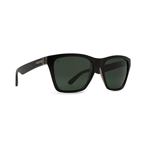 VonZipper Unisex Booker Polarized Black Satin/Grey Poly Polar - Poly Sunglasses