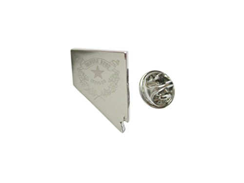 State Design Lapel Pin - Nevada State Map Shape and Flag Design Lapel Pin