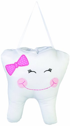 "Lillian Rose Tooth Pillow, Pink Cap, 6.5"" x 7.5"""