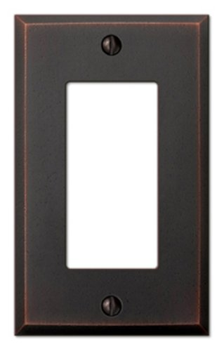 Amerelle 68RDB Manhattan 1 Rocker-GFCI Wall plate, Aged Bronze Antique Bronze Wall Plate